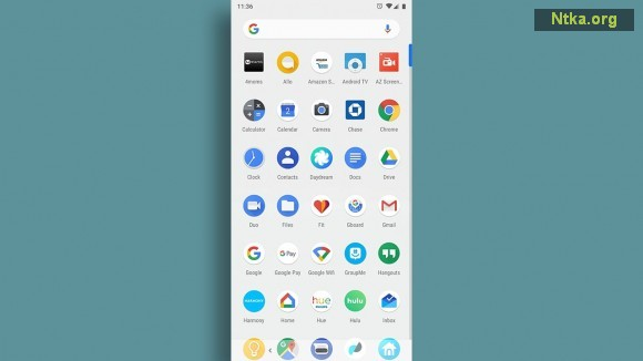 android launcher app drawer