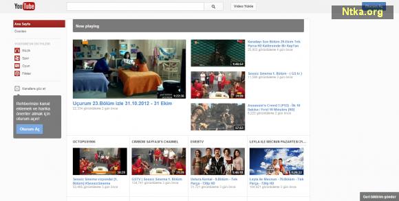 youtube giriş sayfası yenilendi